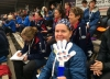 Mary Ellen Barry claps for Team USA